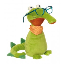 Kuscheltier Brillenträger Krokodil